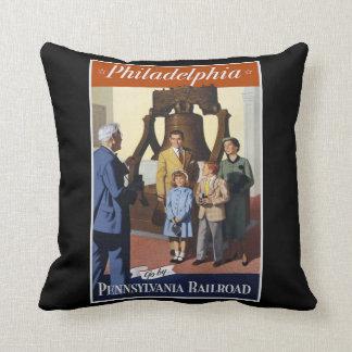 Visit Philadelphia on The Pennsylvania Railroad Cushion