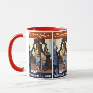 Visit Philadelphia on The Pennsylvania Railroad Mug