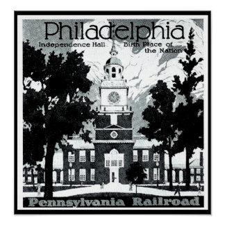Visit Philadelphia on the Pennsylvania Railroad Poster