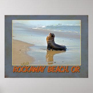 Visit Rockaway Beach, OR Poster