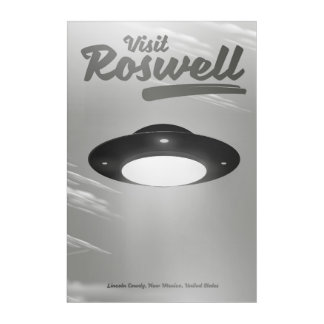 Visit Roswell UFO vintage poster Acrylic Print