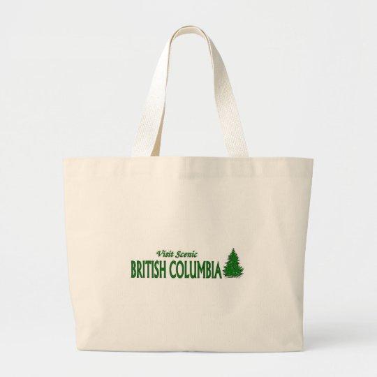 Visit Scenic British Columbia Large Tote Bag