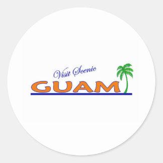 Visit Scenic Guam Round Sticker