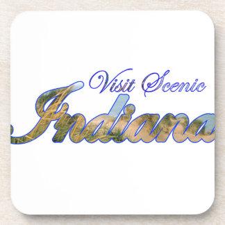 Visit Scenic Indiana Beverage Coaster