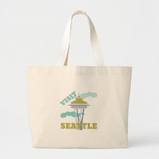 Visit Seattle Jumbo Tote Bag