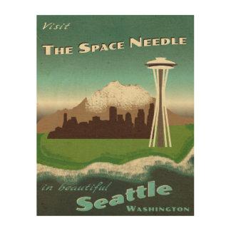 Visit Seattle Wood Prints
