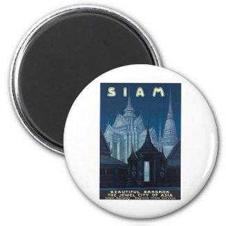 Visit Siam Poster 6 Cm Round Magnet