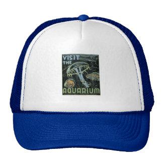 Visit the Aquarium - WPA Poster - Mesh Hat