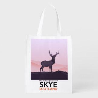 Visit the Beautiful Island of Skye Reusable Grocery Bag