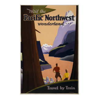 Visit the Pacific Northwest wonderland 1925 Poster