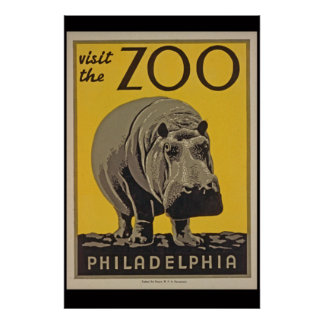 Visit the Philly Zoo Poster