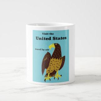 Visit the united States Travel poster Large Coffee Mug