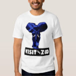 """Visit The Zoo"" Blue Elephant WPA Poster T-Shirt"