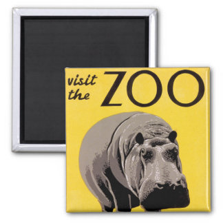 Visit the Zoo Square Magnet
