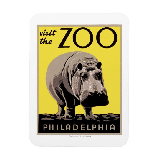 Visit The Zoo Rectangular Photo Magnet