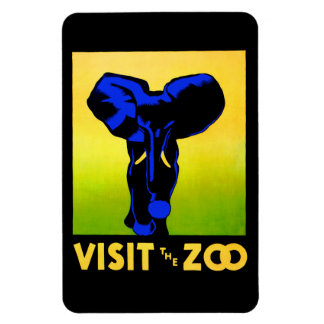 Visit The Zoo! Rectangular Photo Magnet
