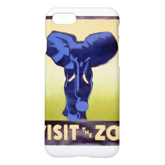 Visit the Zoo Vintage WPA FAP Elephant iPhone 7 Case