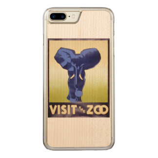 Visit the Zoo Vintage WPA FAP Poster Elephant Carved iPhone 7 Plus Case