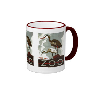 Visit the Zoo - WPA Poster - Coffee Mugs