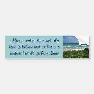 visit to the beach bumper sticker