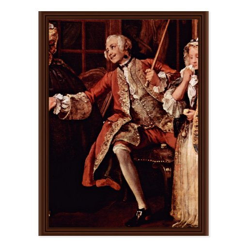 """Visit To The Quack Detail """" By Hogarth William Post Card"""