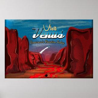 Visit Venus Vintage Poster