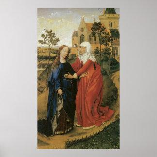 Visitation of Mary - Rogier Van Der Weyden Print