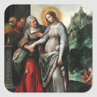 Visitation of Mary to St. Elizabeth Square Sticker