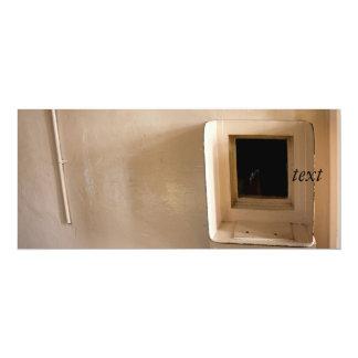 Visitation Window at Alcatraz Prison 10 Cm X 24 Cm Invitation Card