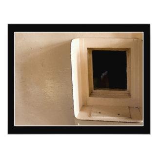 Visitation Window at Alcatraz Prison 11 Cm X 14 Cm Invitation Card
