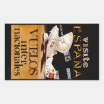 Visite Espana ~ Vuelos Internacionales Rectangular Sticker