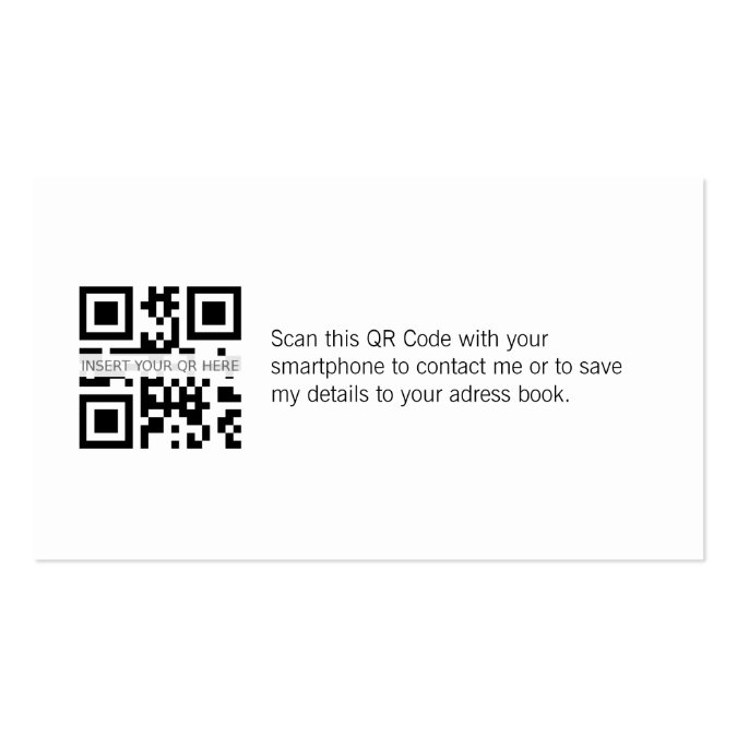 Visitenkarte Mit Qr Code Elegantem Spiegeleffekt