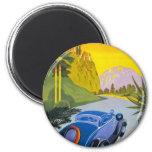 Visitez La Grece En Auto Retro Holiday Poster Refrigerator Magnet