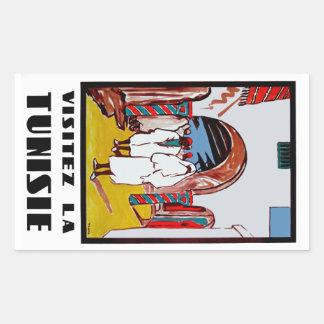 Visitez La Tunisie Rectangular Sticker