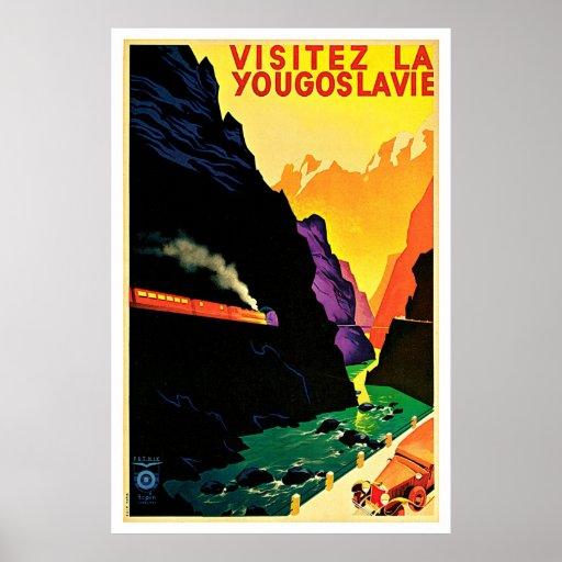 Visitez La Yougoslavie Vintage Travel Posters