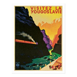 Visitez La Yougoslavie  Vintage Travel Poster Art Postcard