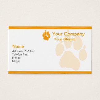 Visiting card animal paw