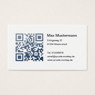 Visiting card (individually shapable)