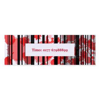 Visiting card mini red black