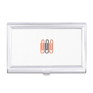 Visiting card owner with motive for paper clip business card holders