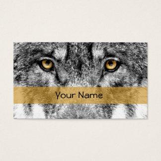 Visiting card wolf
