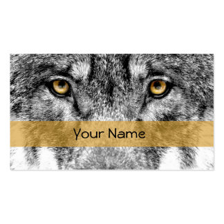 Visiting card wolf pack of standard business cards