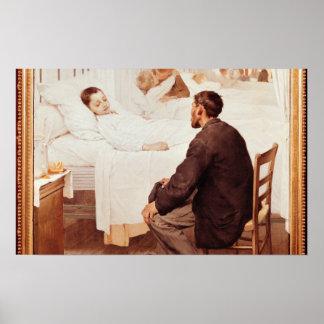 Visiting Day at the Hospital 1889 Poster