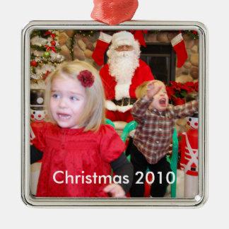 Visiting Santa, Christmas 2010 Christmas Ornament