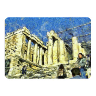 Visiting the Acropolis in Athens 13 Cm X 18 Cm Invitation Card