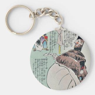 Visitor brings a telegram by Kobayashi,Kiyochika Keychains