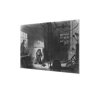 Visitors at the Works Canvas Print