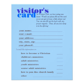 visitor's card