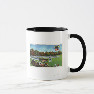 Visitors Reviewing a Dress Parade Mug