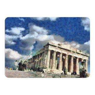Visitors to Acropolis in Athens 13 Cm X 18 Cm Invitation Card